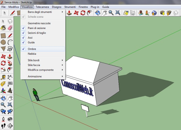 sketchup-inserire-ombra