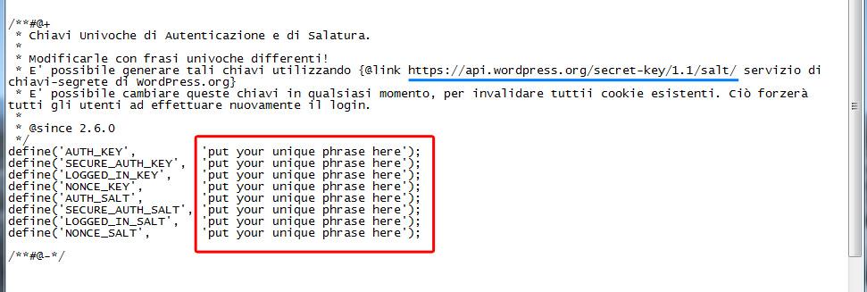 installare-wordpress-su-aruba-codici-sicurezza