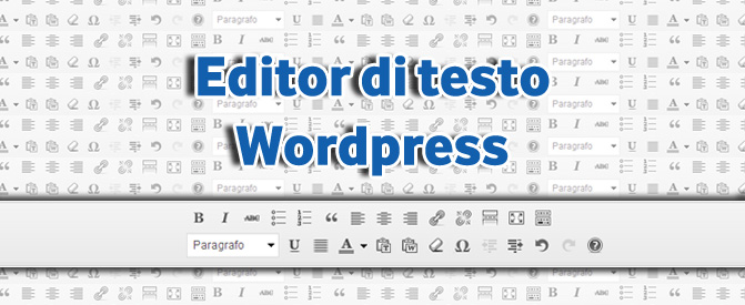Editor di testo WordPress