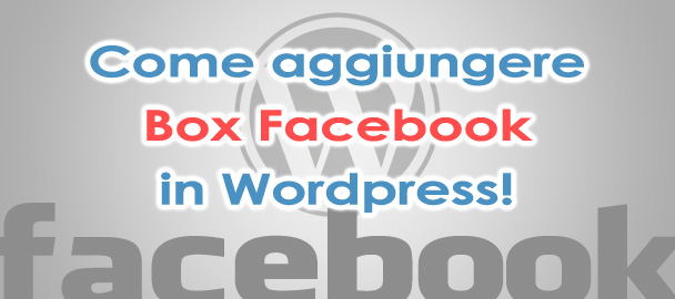 Come aggiungere Facebook su WordPress