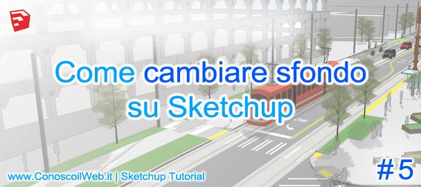 Come cambiare sfondo Sketchup