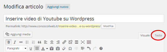 video-youtube-su-wordpress