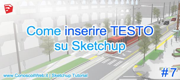 Come inserire testo in SketchUp